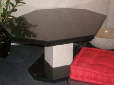 Accueil : Table basse en technistone starlight black Ales